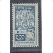 1909 - C-9 - Selo Panamericano, 200 Réis, novo, com goma. MINT