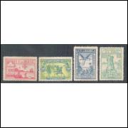1900 - C-1/4 - 4o Centenário do Descobrimento, novos, com goma, MINT.