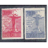 1934 - C-80/81  Visita do Cardeal Pacelli (Pio XII), Série da 3a tiragem, novos, com goma, MINT.