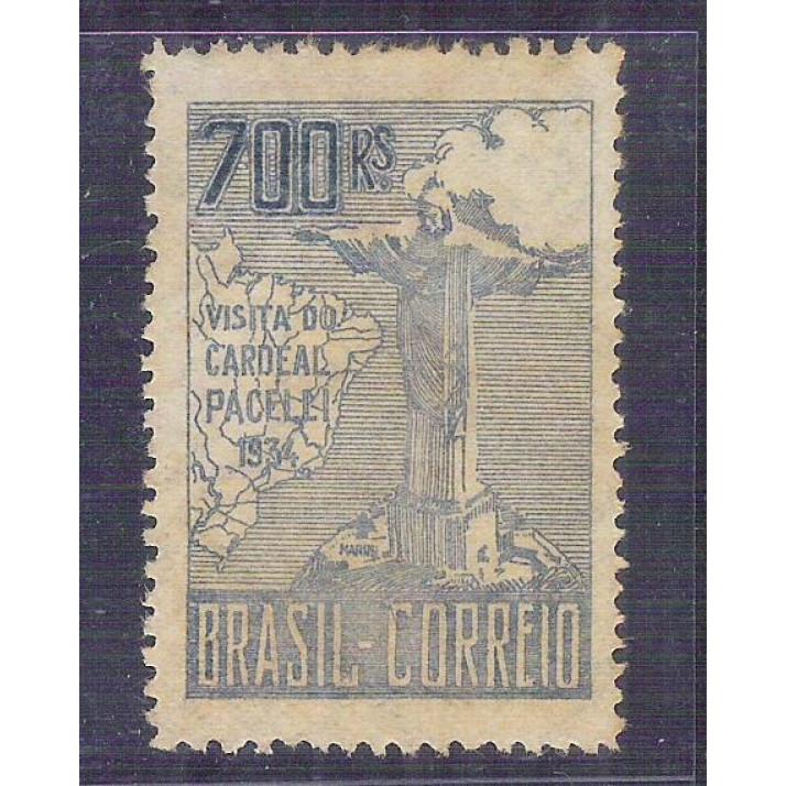 1934 - C-79A  Visita do Cardeal Pacelli (Pio XII), 700 Réis, 2a tiragem, novo, com goma.