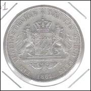 Alemanha (Bavária), 1 Thaler 1861, Prata .900 - Diâmetro: 33 mm 18,5 g