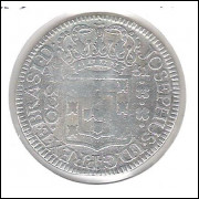 1751 - 320 Réis (Pataca), Brasil-Colônia, D. José I, prata, mbc.