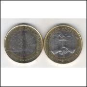 Argentina, 2 Pesos, 2016, bimetálica, fc. Comemorativa Bicentenário da Independencia.