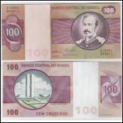 C147 - 100 Cruzeiros, 1981, Ernane Galvêas e Carlos P. Langoni, sob.. Floriano Peixoto