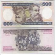 C161 - 500 Cruzeiros, 1985, Ernane Galvêas e Afonso C. Pastore, fe. Deodoro da Fonseca.