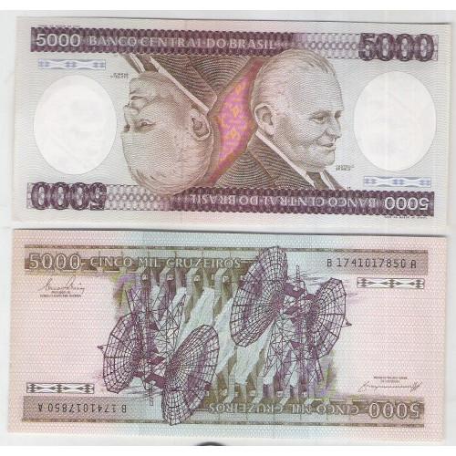 C168 - 5.000 Cruzeiros, 1984, Est. BA, Ernane Galvêas e Afonso C. Pastore, fe. Castelo Branco.