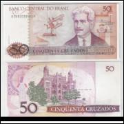 C182 - 50 Cruzados, 1986, Dílson Funaro e Fernão C. B. Bracher, fe. Oswaldo Cruz.