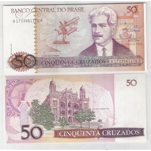 C183 - 50 Cruzados, 1987, L. C. Bresser Pereira e Fernando M. Oliveira, fe. Oswaldo Cruz.