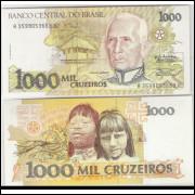 C217 - 1.000 Cruzeiros, 1990, Zélia Cardoso de Mello e Ibrahim Éris, s/fe. Cândido Rondon.