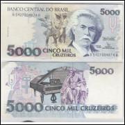 C220 - 5.000 Cruzeiros, 1992, Marcílio M. Moreira e Francisco Gross, sob. Carlos Gomes.