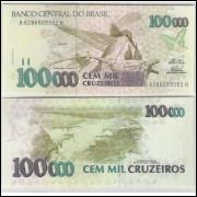 C229 - 100.000 Cruzeiros, 1993, Elizeu Resende e Paulo Ximenes, fe. Beija-flor