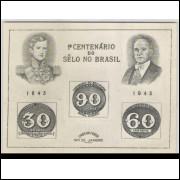B-008 - 1943 Centenário do Selo Brasileiro - Olho-de-Boi.