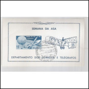 B-023- 1967 Semana da Asa. Aviação. 14 Bis. Com carimbo comemorativo.