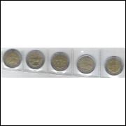 Argentina, 1 Peso, 2010, bimetálica, soberba. Série Comemorativa Bicentenário - Turismo.