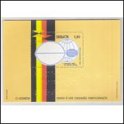 B-037 - 1974 5o Assembléia Geral do Conselho Mundial para o Bem Estar do Cego. Bloco do Braile.