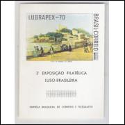 B-029 - 1970 Lubrapex - 3o Exposição Filatélica Luso-Brasileira. Pintura.