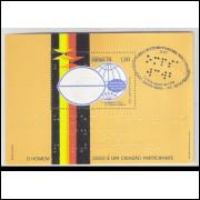 B-037 - 1974 5o Assembléia Geral do Conselho Mundial para o Bem Estar do Cego. Carimbo Comemorativo.