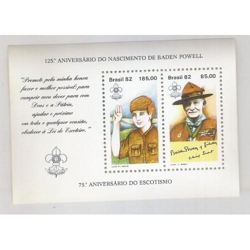 B-053 - 1982 - 75o Aniversário do Escotismo. Baden Powell.
