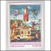 B-056 - 1983 - V Centenário do pinto italiano Raphael Sanzio - A Ressurreição. MASP-SP