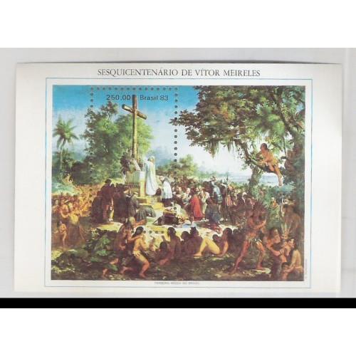 B-063 - 1983 - Sesquicentenário de Vítor Meireles. Primeira Missa no Brasil. Pintura.