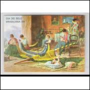 B-076 - 1988 - Dia do Selo. Brasiliana 89. Exposição Filatélica. Tela. Pintura.