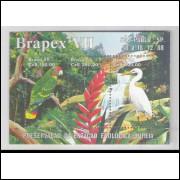 B-078 - 1988 - Brapex VII - Exposição Filatélica. Estação Ecológica Juréia. Fauna e Flora.