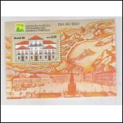 B-081 - 1989 - Dia do Selo. Exposição Filatélica Interamericana. Brasiliana. Paço Imperial.