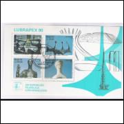 B-087 - 1990 - Lubrapex - Exposição Filatélica. Esculturas de A. Ceschiatti e B. Giorgi. Car.Comemor