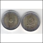 Argentina, 1 Peso, 2016, bimetálica, fc.