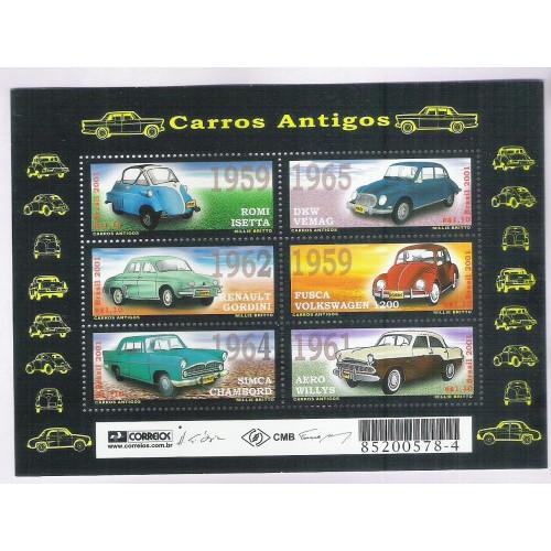 B-120 - 2001 - Carros Antigos. Romi Isetta; DKW Vemag; Renault Gordini; Fusca; Sinca e Aero Willys.