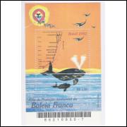 B-128 - 2002 - Área de Proteção Ambiental da Baleia Franca. Mapa, fauna marinha.
