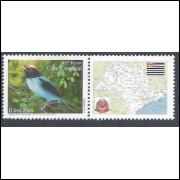 C-2596 - 2004 Selo Personalizado - Tangará ou Dançador. Pássaro, fauna. Carta comercial, 1o porte.