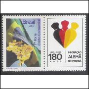 C-2720 - 2007 - Selo Personalizado - Bandeira e Ipê. Mapa, flora.