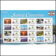 C-2783-2788 - 2009 - Selo Personalizado - Folha - Santa Catarina - SC.