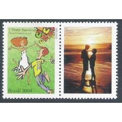 C-2558 - 2004 Selo Personalizado - Romance. Dança.
