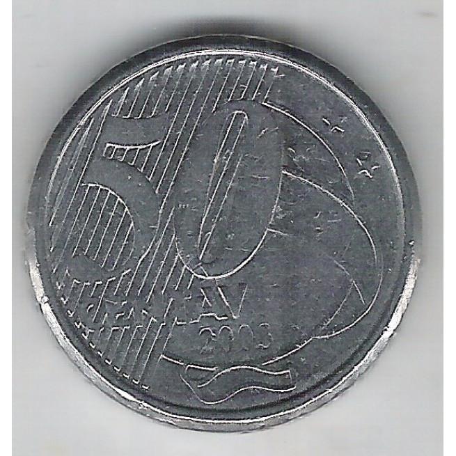 2003 - 50 Centavos, ERROR: CENTAV falta OS.