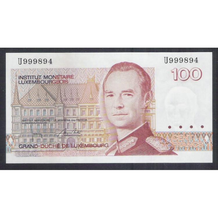 Luxemburgo - (P.58) 100 Francs, 1993, fe. Personagem, Grand-Duche de Luxembourg.