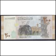 Síria - (P.114) 200 Pounds, 2009, fe.