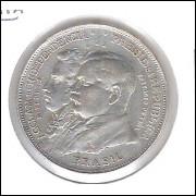 1922 - 2000 Réis, prata, mbc. Comemorativa do Centenário da Independência.