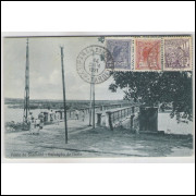 jp01 - Cartão postal circulado em 1921, Parahyba do Norte (atual João Pessoa), Ponte do Sanhauá.