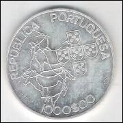 Portugal, 1000 Escudos, 2000, prata, FC. Presidência do Conselho da União Européia.
