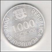 Portugal, 1000 Escudos, 2000, prata, FC. D. João de Castro.