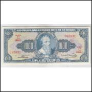 C056 - 1.000 Cruzeiros, 1963, Estampa 1a, s, Reginaldo F. Nunes - Miguel Calmon. Pedro A. Cabral.