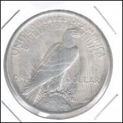 Estados Unidos, Peace Dollar, 1923, S/FC, prata .900 - 26,7 g - 38,1 mm.