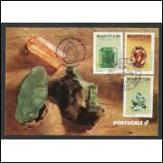 max056 - 1977 Pedras Preciosas - série. Minerais. Carimbo Comemorativo e 1o Dia -  Belo Horizonte-MG