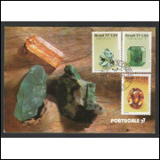 max056 - 1977 Pedras Preciosas - série. Minerais. Carimbo 1o Dia -  São Paulo - SP.