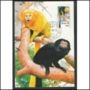 max045 - 1976  - Preservação Natureza - Mico-Leão. Fauna. Carimbo 1o Dia - São Paulo-SP.