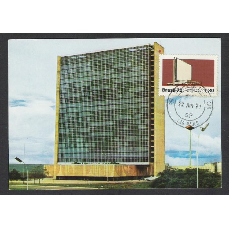 max057 - 1978  - Edifício Sede da ECT. Arquitetura. Carimbo 1o Dia - São Paulo-SP.