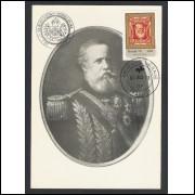 max058 - 1978 Dia do Selo. Barba Branca, selo sobre selo.Carimbo 1o Dia e Comemorativo- São Paulo-SP