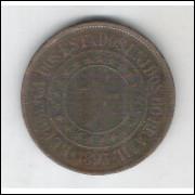 1893 - Brasil, 40 Réis, bronze, bc